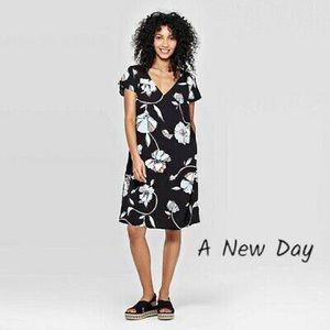 A New Day V Neck Short Sleeve Floral Dress